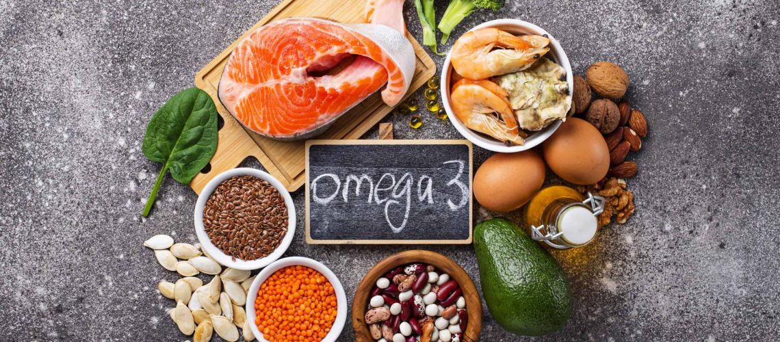 Products sources of Omega-3 acids. Healthy fats
